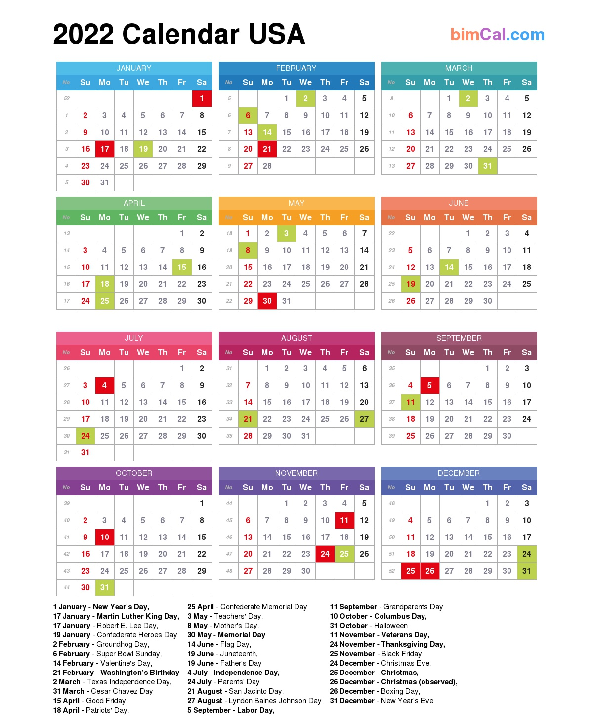 Hcps Calendar 2022 23.2022 Calendar Usa Bimcal